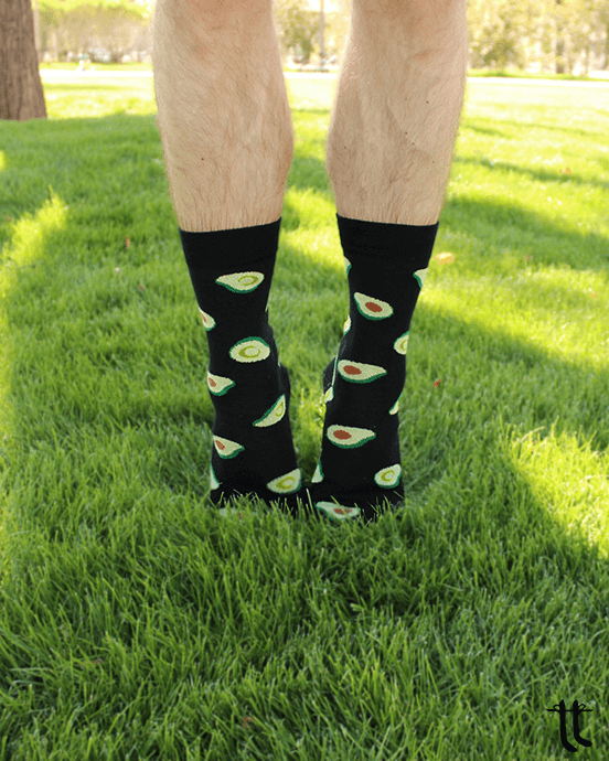 avocado socks (black)