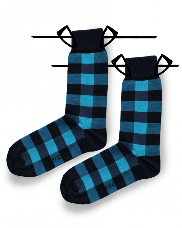 square socks blue