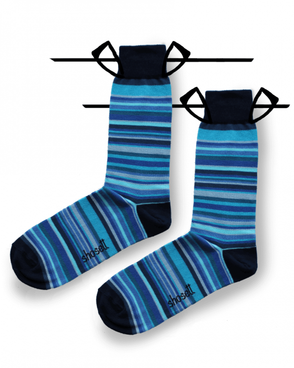 blue socks striped