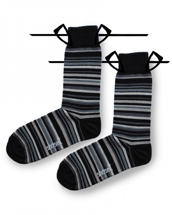 grey socks striped