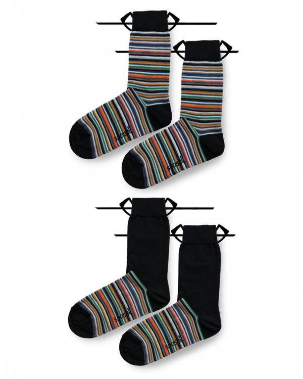 even striped socks