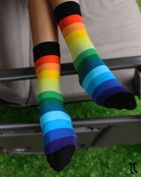 rainbow socks